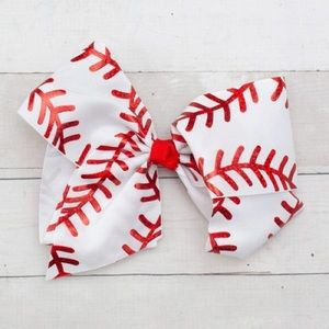 Other - NWT! Jumbo Boutique Baseball Hair Bow for Girls